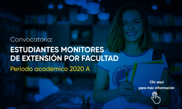 Convocatoria estudiantes monitores